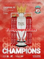 Liverpool v Chelsea  Champions  Premier League Programme 2020 Free UK Delivery.