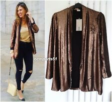 ZARA COPPER/SILVER REVERSIBLE  SEQUIN BLAZER JACKET SIZE M