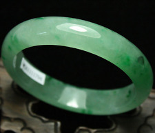 55-60MM Certified Emerald icy Green Jadeite Jade Bangle Bracelet Handmade 100%