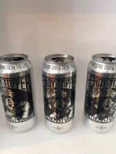 3 Heady Topper IPA Beer Cans Empty The Alchemist Waterbury Vermont Brewery