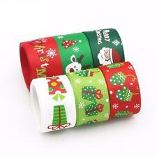 6 x 22mm x 97cm Cute Christmas Ribbon Set / Christmas Ribbons for Sewing Crafts