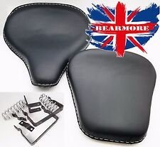ROYAL ENFIELD BULLET STANDARD HARLEY TYPE FRONT REAR BLACK LEATHER SEATS