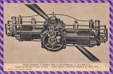 Cpa - First deutscher 2 Cylinder Flug-u. Luftschiffmotor V.16-200 P.S Rare)