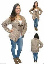 Chunky, Cable Knit Floral Cardigans for Women