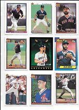 Wade Boggs plus 8 more Boston Red Sox baseball card lot