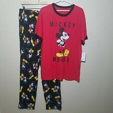 Disney Mickey Mouse Pajamas S Set 2 pc Men 90th Anniversary Shirt Lounge Pants