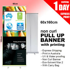 Pull up banner / Roll up Banner (Non Curl Printing) 600mm x 1600mm