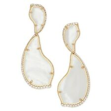 Kendra Scott Teddi Earrings Ivory MOP 14k Gold Plated NEW $150