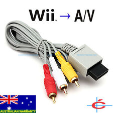 Video Audio AV RCA Cable for Nintendo Wii Wii U / Mini Console, Wii to TV Cable