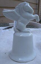 Vintage Rearing Pegasus Bell, white porcelain,1970s -flying horse,fantasy,equine