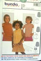 Burda sewing pattern no. 9887 little girls blouses size 2,3,4,5,6
