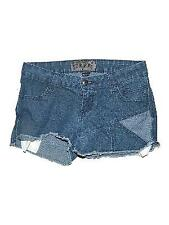 Juniors Daang Goodman TRIPP Denim Jean Short Shorts Frayed Hems