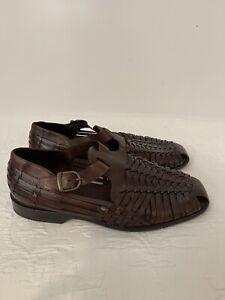 Mens Cole Haan Resort Hurache fisherman buckle Breaded Sandals Size 11 EEE