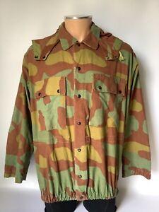 "Genuine Vintage 60s Italian Army Telo Mimetico Camo Jacket, w/ Hood, 44"""