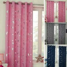 Star Blackout Window Curtains Room Thermal Insulated for Kids Boy Girls Bedroom.