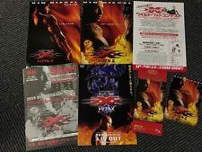 xXx XANDER CAGE Japan 2002 cinema flyer SET Vin Diesel 7 pc. RARE 15 years old