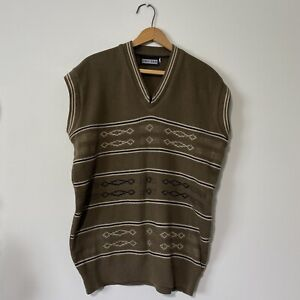 Mens Vintage Brown Southwestern Sweater Vest