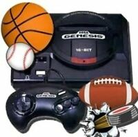 Authentic Refurbished Sega Genesis w/Controller, Cords, 4 Sports Games