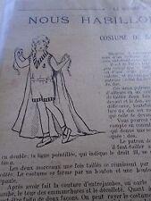 """PATRON ORIGINAL  POUPEE """" BLEUETTE """" COSTUME DE BAIN   AOUT  1921"""