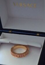 amazing versace Rose Gold  18k Pink sapphire ring retail $6900 -50%