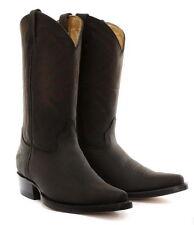 Grinders Brown Mens Cuban Heel Cowboy Leather Boots