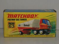 MATCHBOX Superfast new 63 Freeway Gas Tanker neuf boîte- Made In England MIB