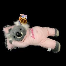 Australian Souvenir Australia Koala Sleeping Snoring Soft Plush Toy 30cm Pink