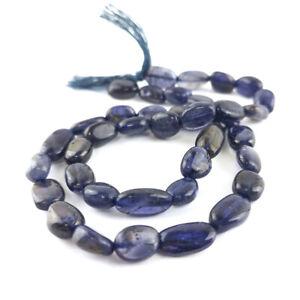 Indigo Iolite Beads Oval Approx 5x7-8x10mm Strand Of 40+