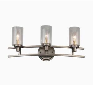 New allen + roth Charlotte 3-Light Bronze Rustic Vanity Light