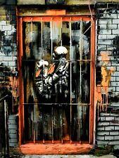 ART PRINT POSTER PHOTO GRAFFITI MURAL STREET GAS MASK WINDOW NOFL0212