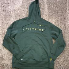 Lg Nike Dri Fit Grn Pullover Sweatshirt Hoodie Livestrong Cycling Race Workout