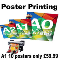 Poster Printing display sign shop adverts signage A0 A1 A2 A3 A4 size