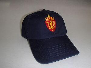 Norwegian Norway Crest Baseball Hat Cap Embroidered Navy Cotton #CP22NAV