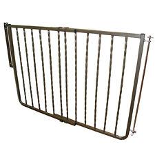 CARDINAL GATES WIX-BZ  Bronze WROUGHT IRON DECOR HARDWARE MOUNTED PET GATE EX...