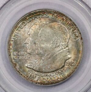 1923-S 1923 Monroe 50c PCGS MS64 Old Green Holder beautiful color