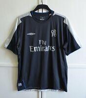 MINT! FC Chelsea London 2004/2005 Vintage Away Football Shirt Jersey Umbro Sz XL