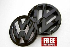 VW GOLF MK5 Badge Glossy Black Front and Rear 2003 – 2010 Free Delivery
