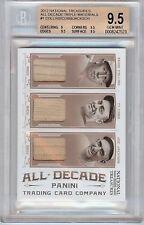 2012 National Treasures Triple Game Used Bat #1 BGS 9.5 Cobb, Joe Jackson 15/25!