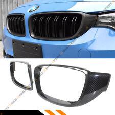 FOR 2015-2018 BMW F80 M3 F82 F83 M4 CARBON FIBER KIDNEY GRILL INSERT TRIM COVER
