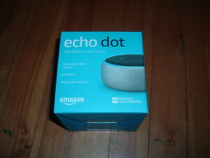 AMAZON ECHO DOT - SANDSTONE~ BRAND NEW~ 3RD GENERATION~ SEALED~