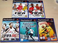 5 PLAYSTATION 2 SPIELE FIFA FOOTBALL 2004 2005 06 VIRTUA PRO FOOTBALL STREET 2