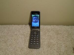 LG Verizon Exalt II 2 Flip Phone LG-VN370 VN370 Cell Phone Gray