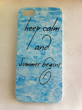 KEEP CALM AND SUMMER BEGINS Art Printed iPhone 5 Case iPhone 5s Case