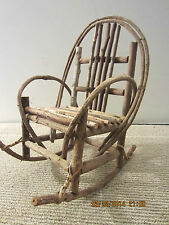 PRIMITIVE, SALESMAN SAMPLE MINI ROCKING CHAIR