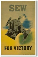 Sew For Victory - NEW Vintage Reprint POSTER