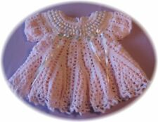 "CROCHET PATTERN for Baby Dress  ""COTTON CANDY"" by Rebecca Leigh - 6/9 & 12 mos"