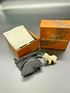 Jay Strongwater Baby Polar Bear, Signed, With Box, Retired