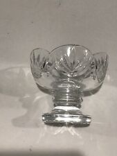 WATERFORD CRYSTAL FOOTED & SCALLOPED CANDY DISH/NUT BOWL