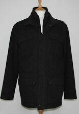 Button Overcoat Funnel Neck Coats & Jackets for Men