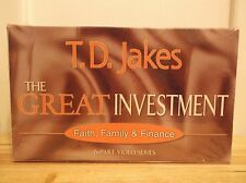 TD JAKES The Great Investment: Faith, Family, & Finance Video VHS Set NEW
